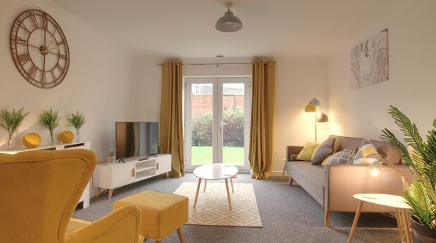 Lounge at Delamere Gardens Apartments, Centre, Wakefield