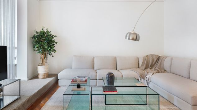 Living area at Artist Apartment, Eixample, Barcelona