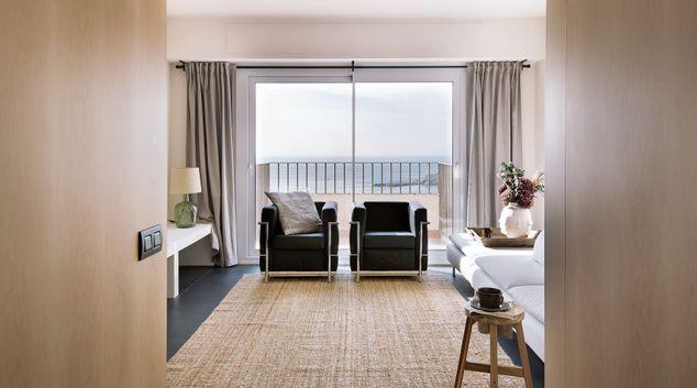 Living room at The Views Apartment, Gothic Quarter, Barcelona