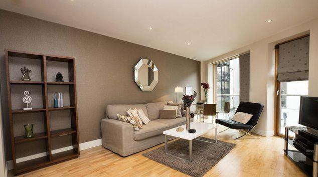 Living area at William Beckett Apartments, Beggar's Bush, Dublin