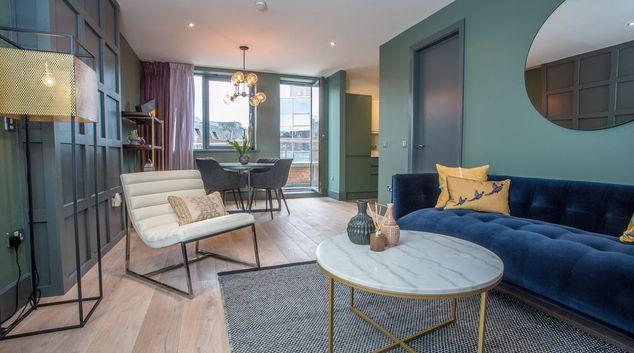 Living space at William Beckett Apartments, Beggar's Bush, Dublin