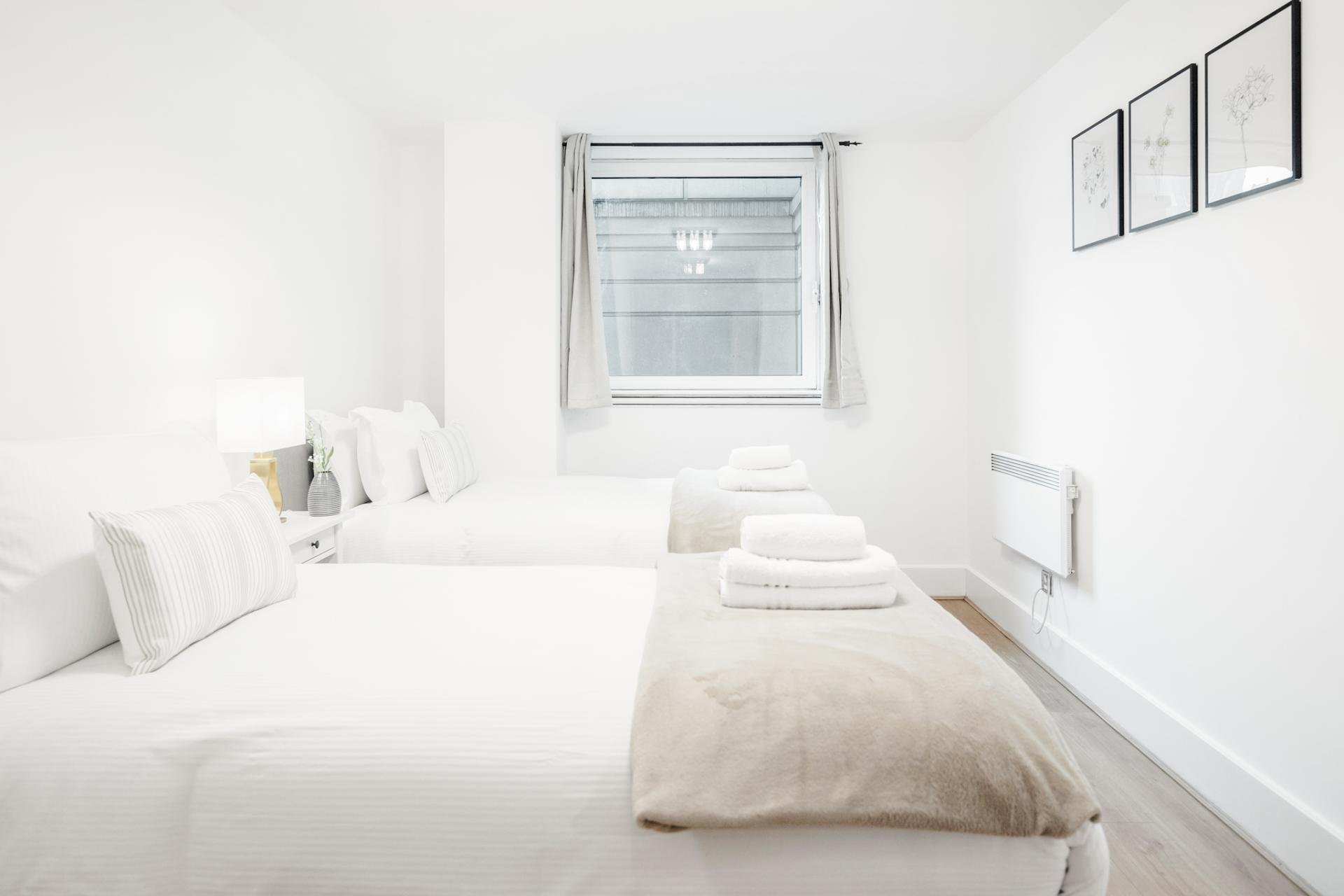 Beds at St Georges Wharf Apartment, Vauxhall, London