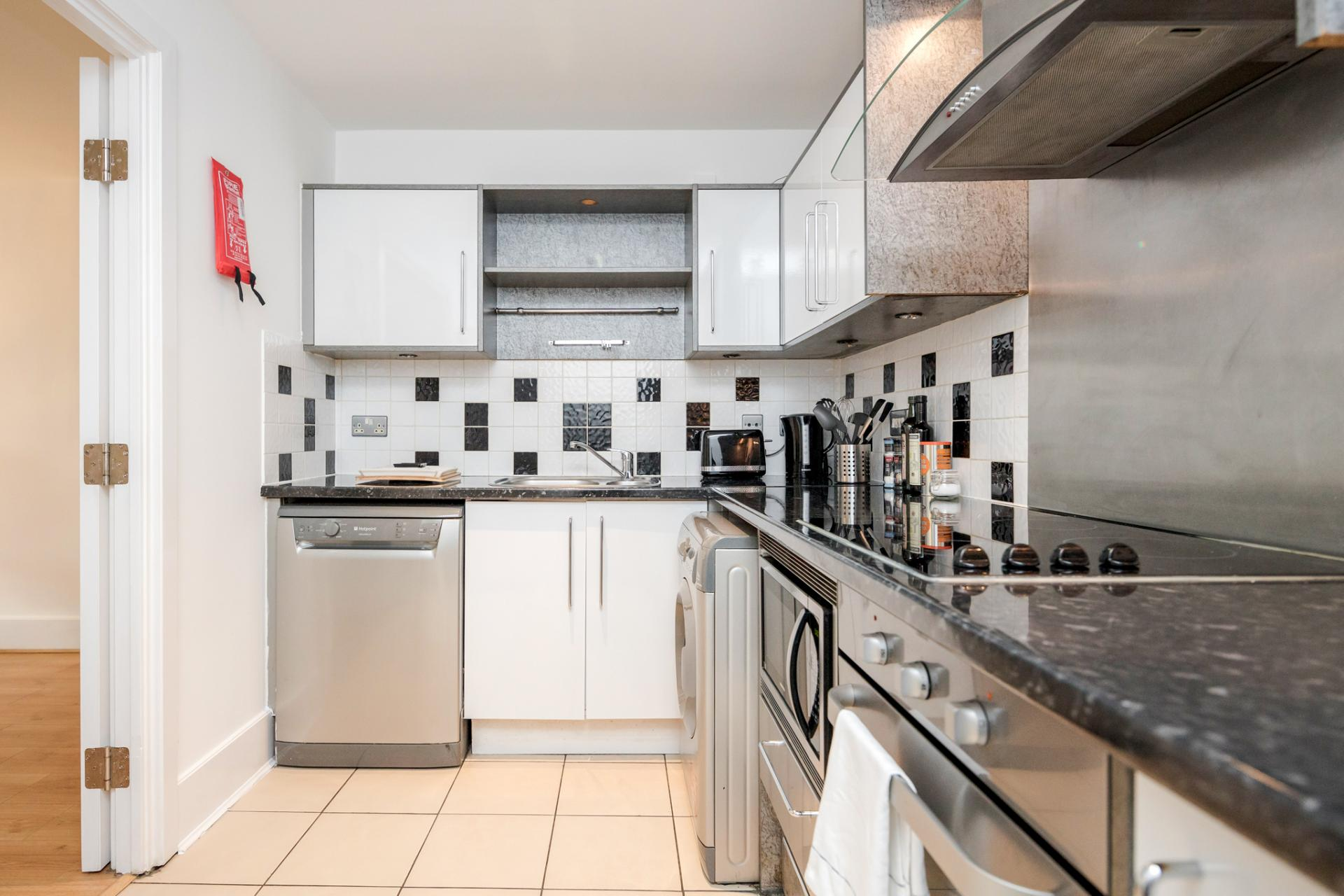 Kitchen at St Georges Wharf Apartment, Vauxhall, London
