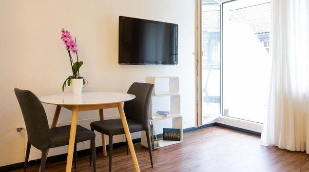 Seating at Rümelinsplatz Apartment, Centre, Basel