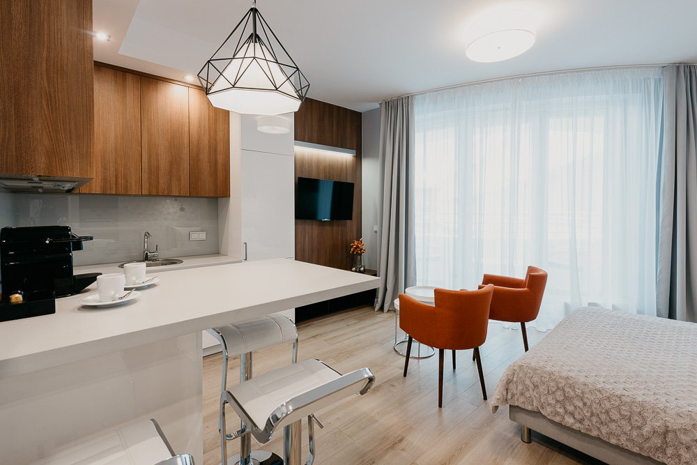 Living room at OVO Residence Wroclaw, Centre, Wroclaw