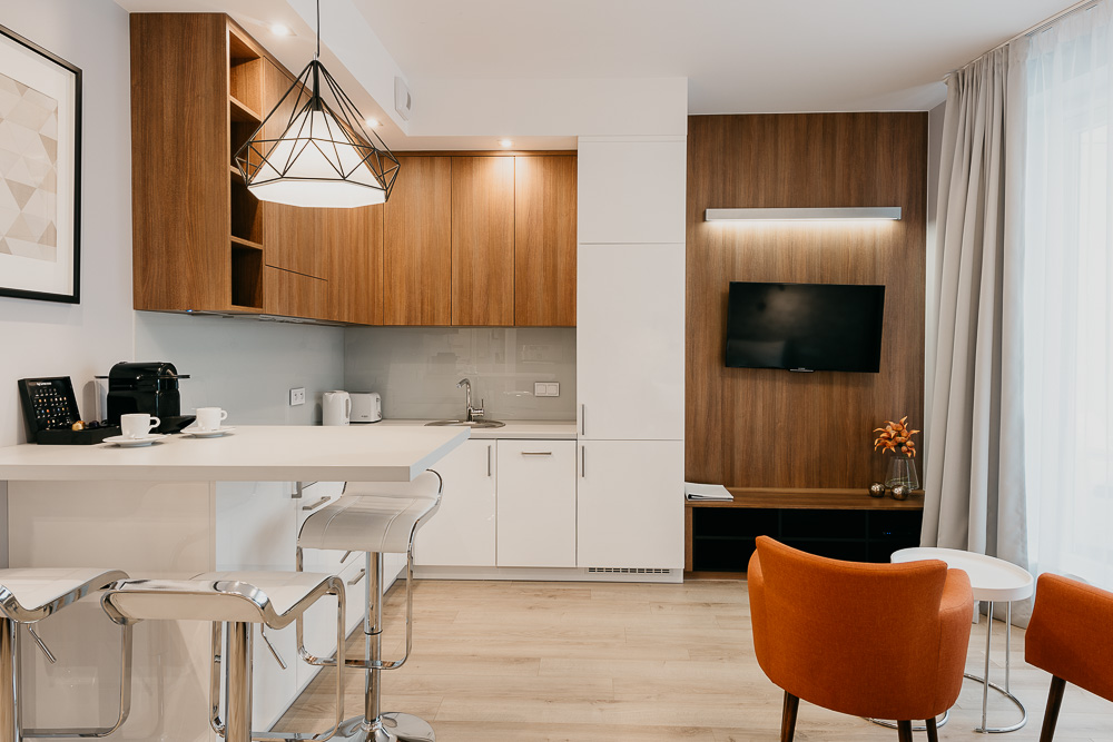 Dining area at OVO Residence Wroclaw, Centre, Wroclaw