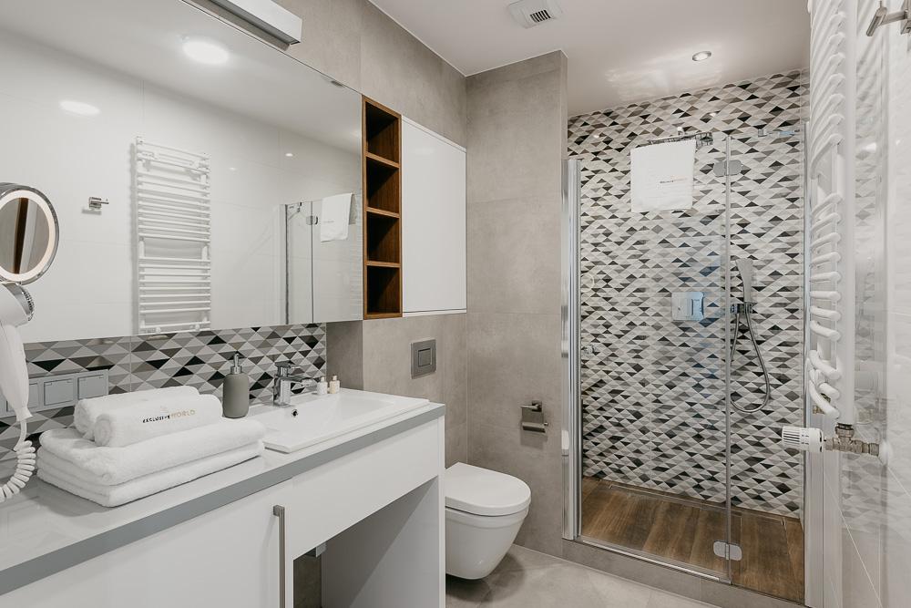 Bathroom at OVO Residence Wroclaw, Centre, Wroclaw