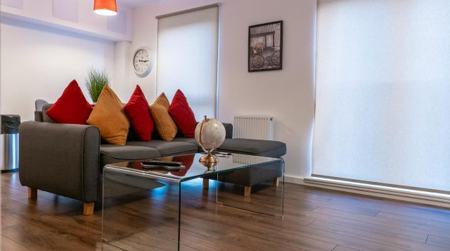 Living area at Knightsbridge Court, Centre, Manchester