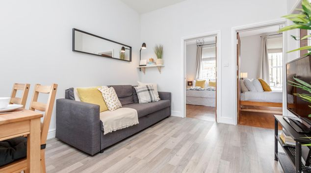 Living area at Lavender Hill Apartments, Clapham Junction, London