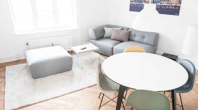 Living room at Frederikssundsvej Apartment, Nørrebro, Copenhagen