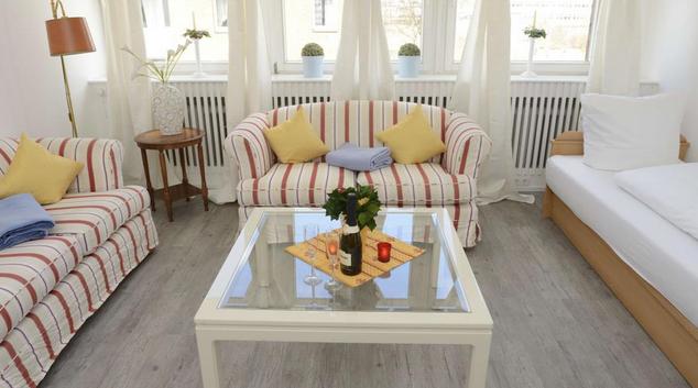 Living room at Haldesdorfer Apartments, Barmbek-Nord, Hamburg