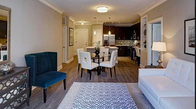 Living room at Amli Deerfield Apartment, Deerfield, Chicago