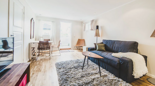 Living area at Nordstrand House, Hauketo, Oslo