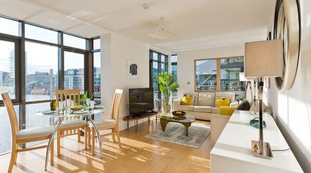 Living Room at Longboat Quay, Docklands, Dublin