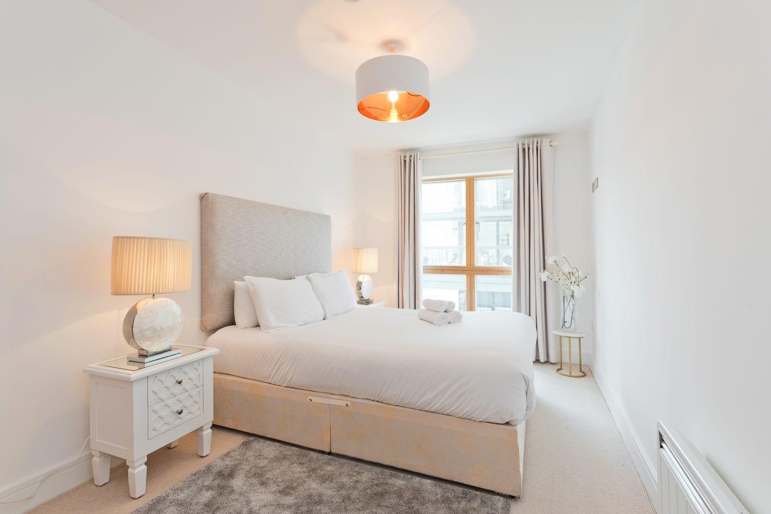 Bedroom at Longboat Quay, Docklands, Dublin