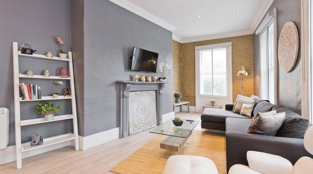 Living area at Dawson Street Apartments, Portobello, Dublin