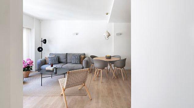Living area at Casa Gaudi Apartment, Eixample, Barcelona