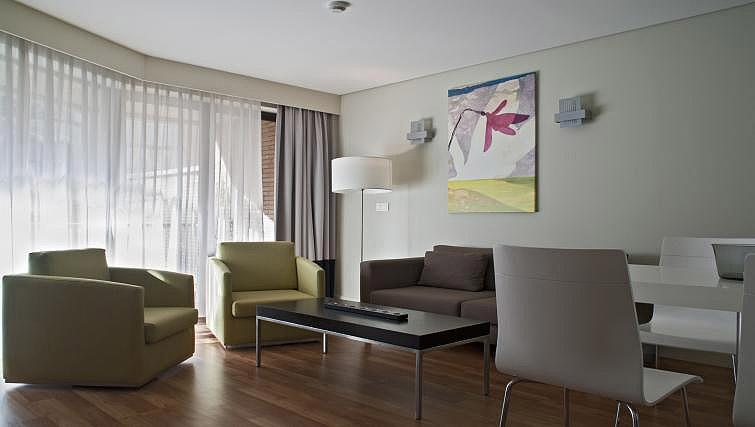 Living space at B-aparthotel Montgomery