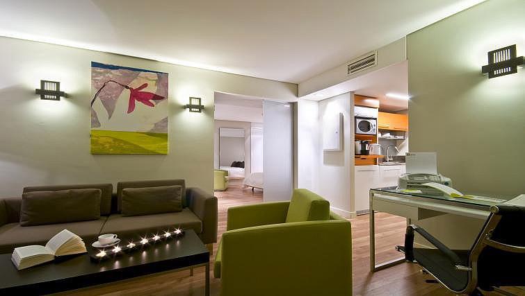 Living room at B-aparthotel Montgomery