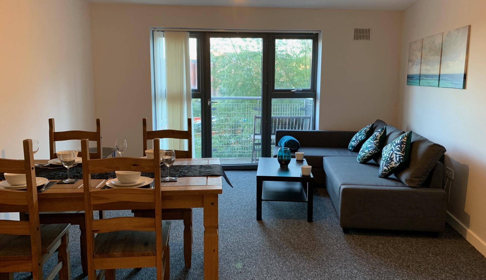 Lounge at Kelham Island Apartment, Neepsend, Sheffield