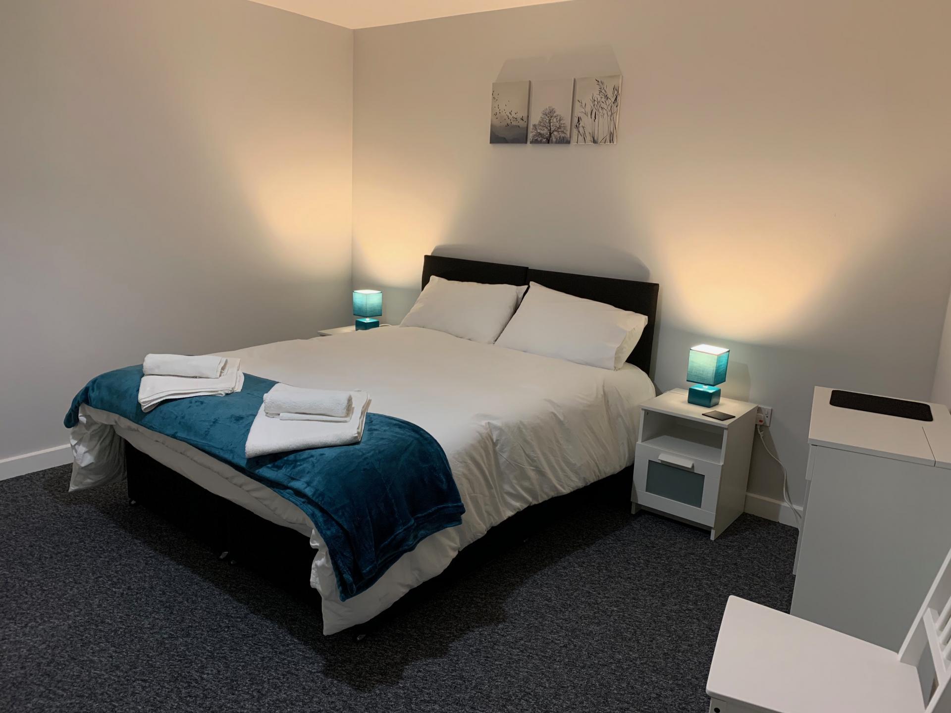 Bedroom at Kelham Island Apartment, Neepsend, Sheffield