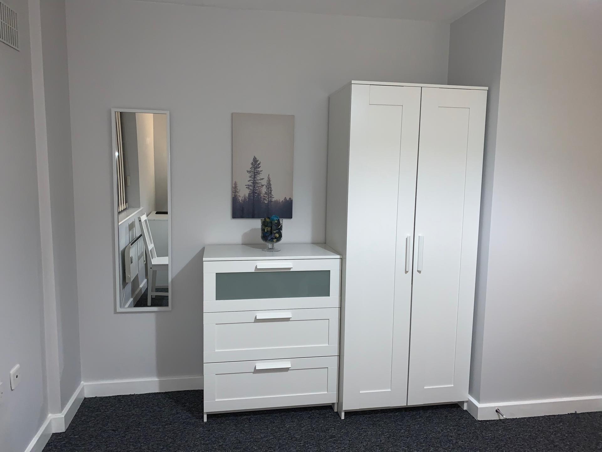 Wardrobe at Kelham Island Apartment, Neepsend, Sheffield