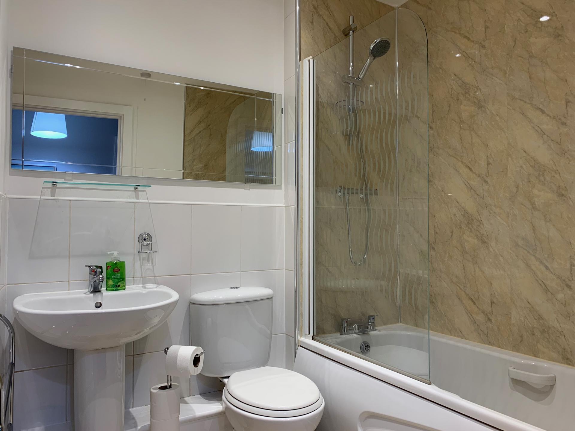 Bathroom at Kelham Island Apartment, Neepsend, Sheffield