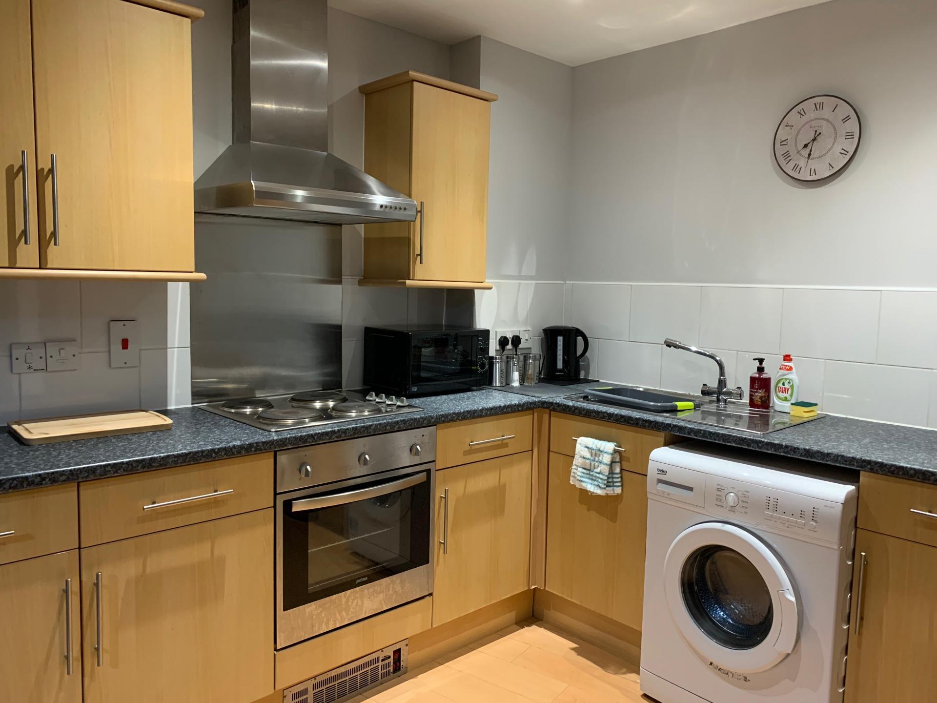 Kitchen at Kelham Island Apartment, Neepsend, Sheffield