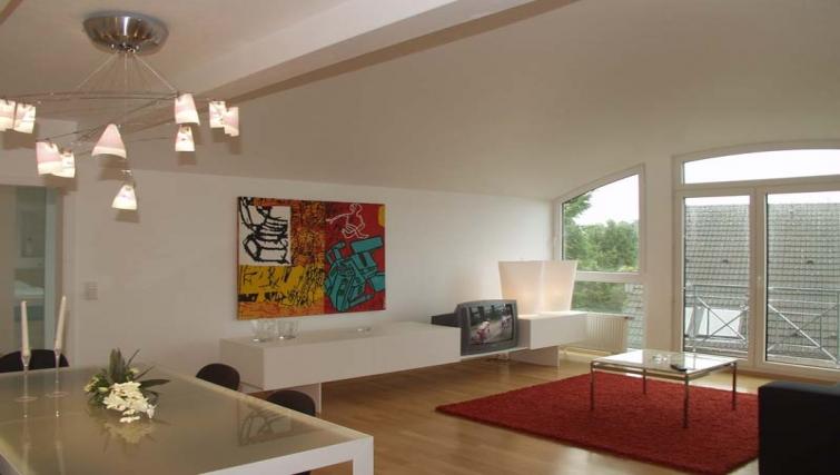 Spacious living room at Dusseldorf