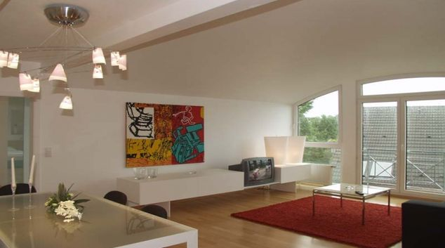 Spacious living room at Dusseldorf