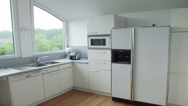 Large sleek kitchen at Dusseldorf