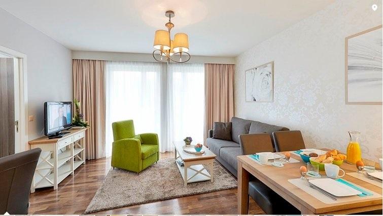 Stylish living area in Thon Residence Parnasse