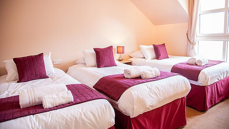 Large bedroom at Royal Mile Apartments