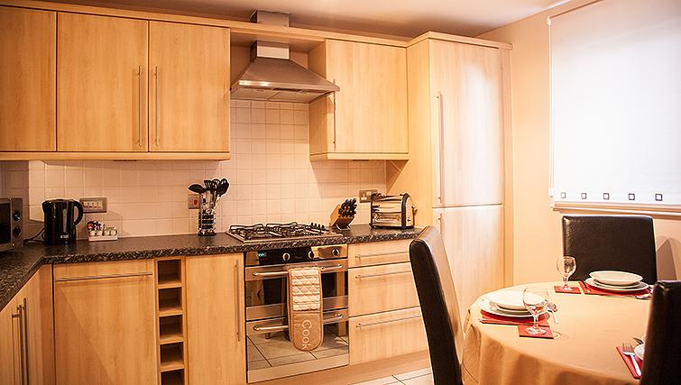 Modern kitchen in Royal Mile Apartments