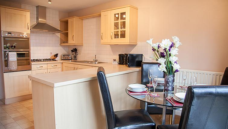 Dining area at Royal Mile Apartments