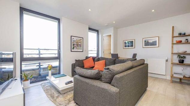 Living area at Teddington Apartments, Teddington, London