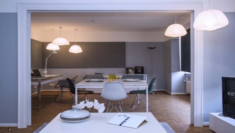 Spacious living area at Key Inn Apart-Hotel Limpertsberg