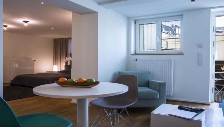 Practical dining area at Key Inn Apart-Hotel Limpertsberg