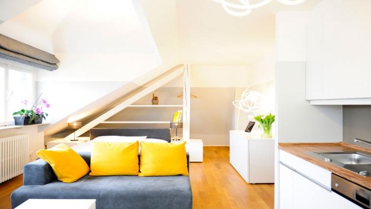 Modern kitchen at Key Inn Apart-Hotel Limpertsberg