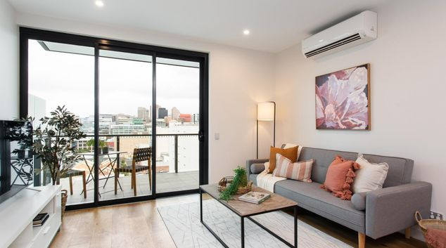 Living area at The East End Apartments, Centre, Adelaide
