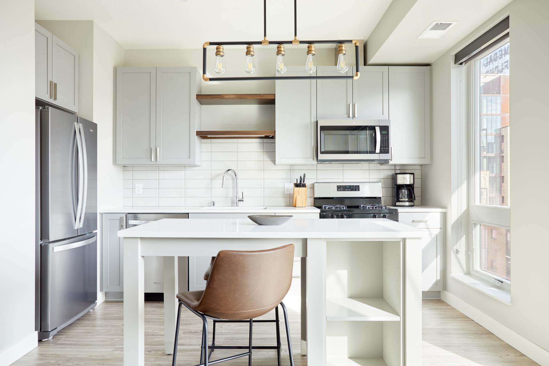 Kitchen at Vicinity Apartments, Centre, Minneapolis