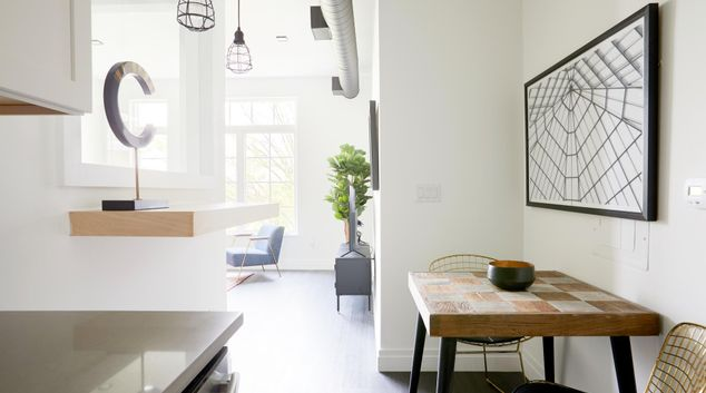 Dining area at The Lamont Apartments, Park View, Washington DC