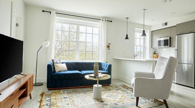Living area at Callisto Apartments, Navy Yard, Washington DC