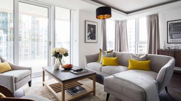 Living area at Paddington Gardens, Paddington, London