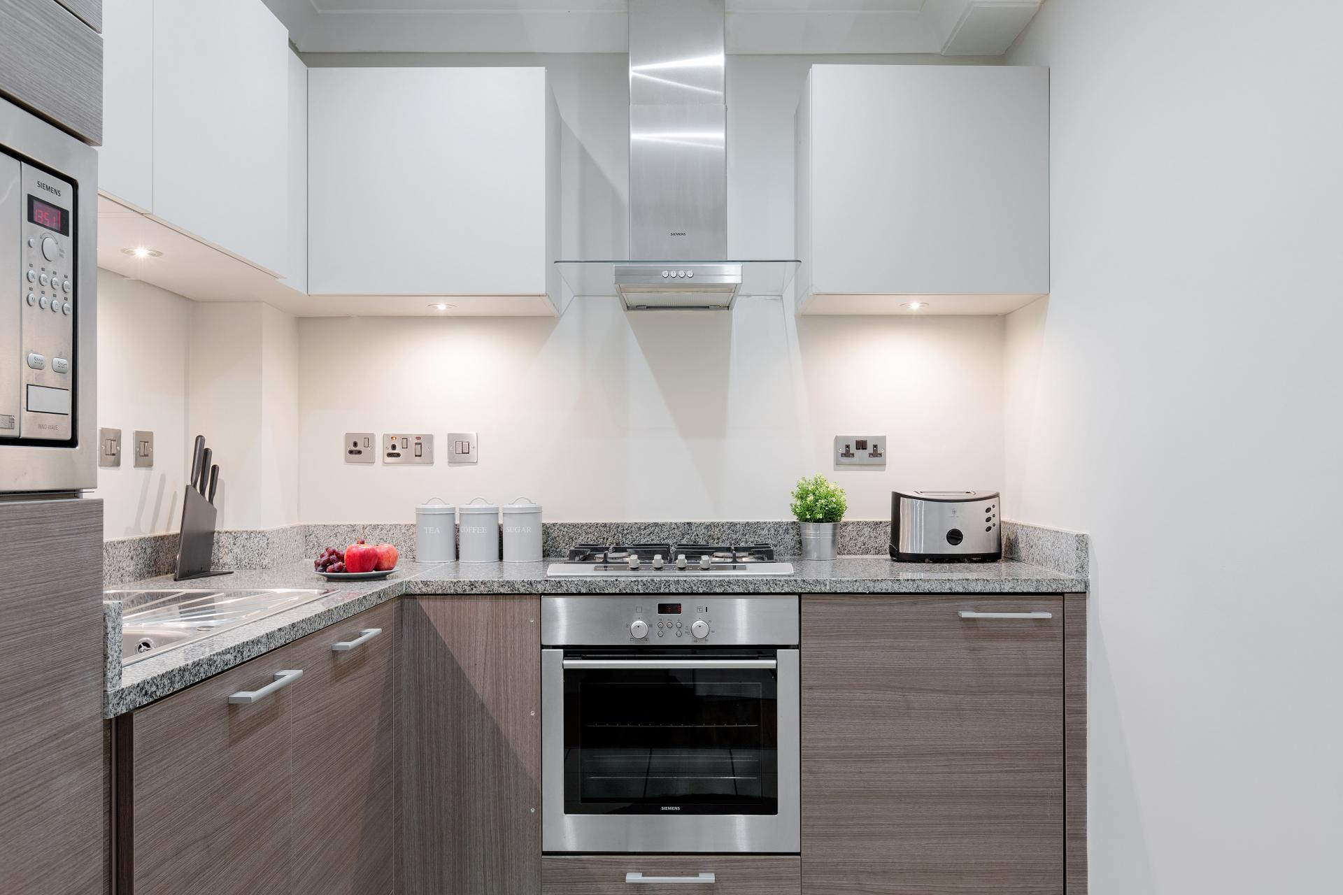 Kitchen at Heart of Shoreditch Apartments, Whitechapel, London