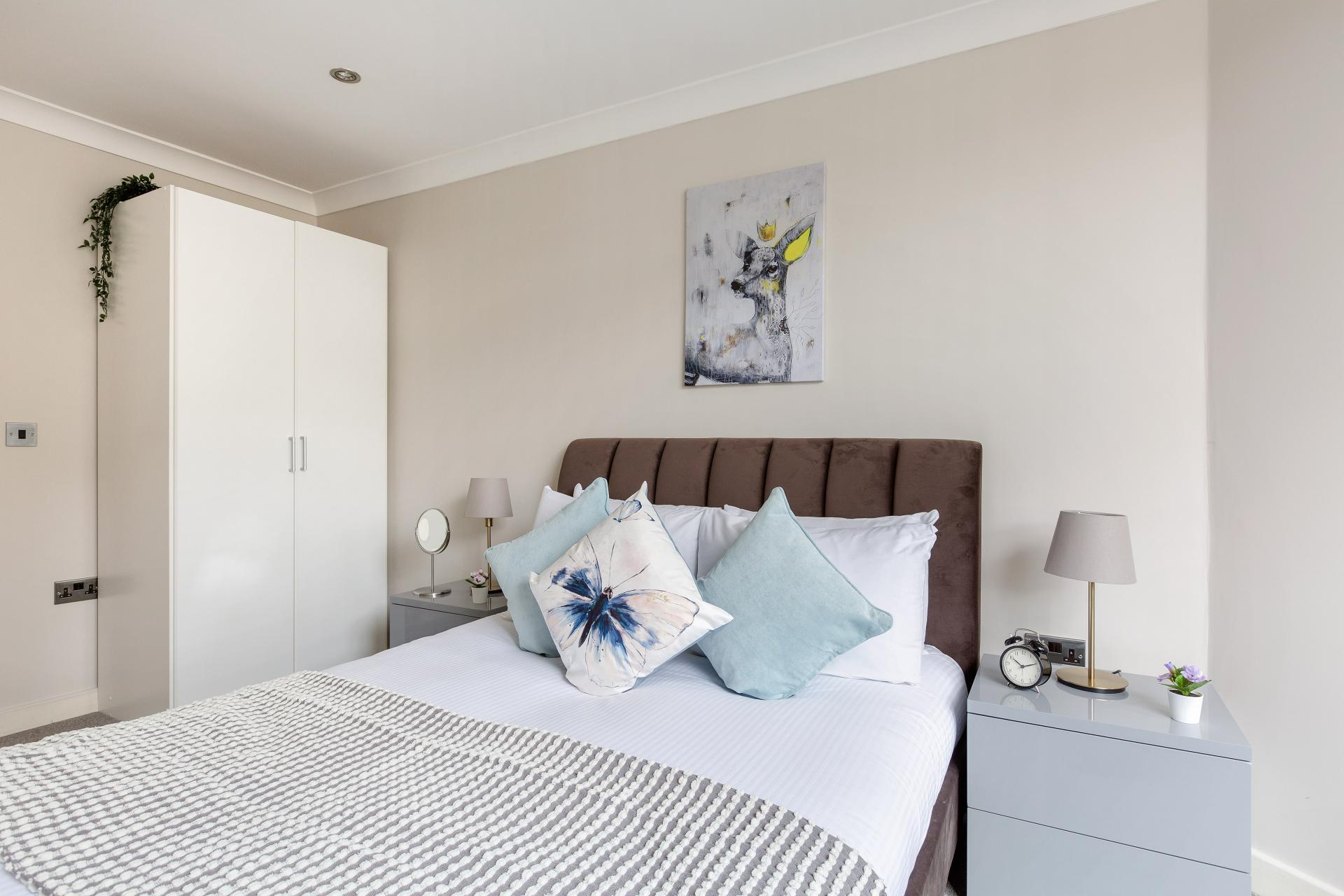 Bedroom at Heart of Shoreditch Apartments, Whitechapel, London