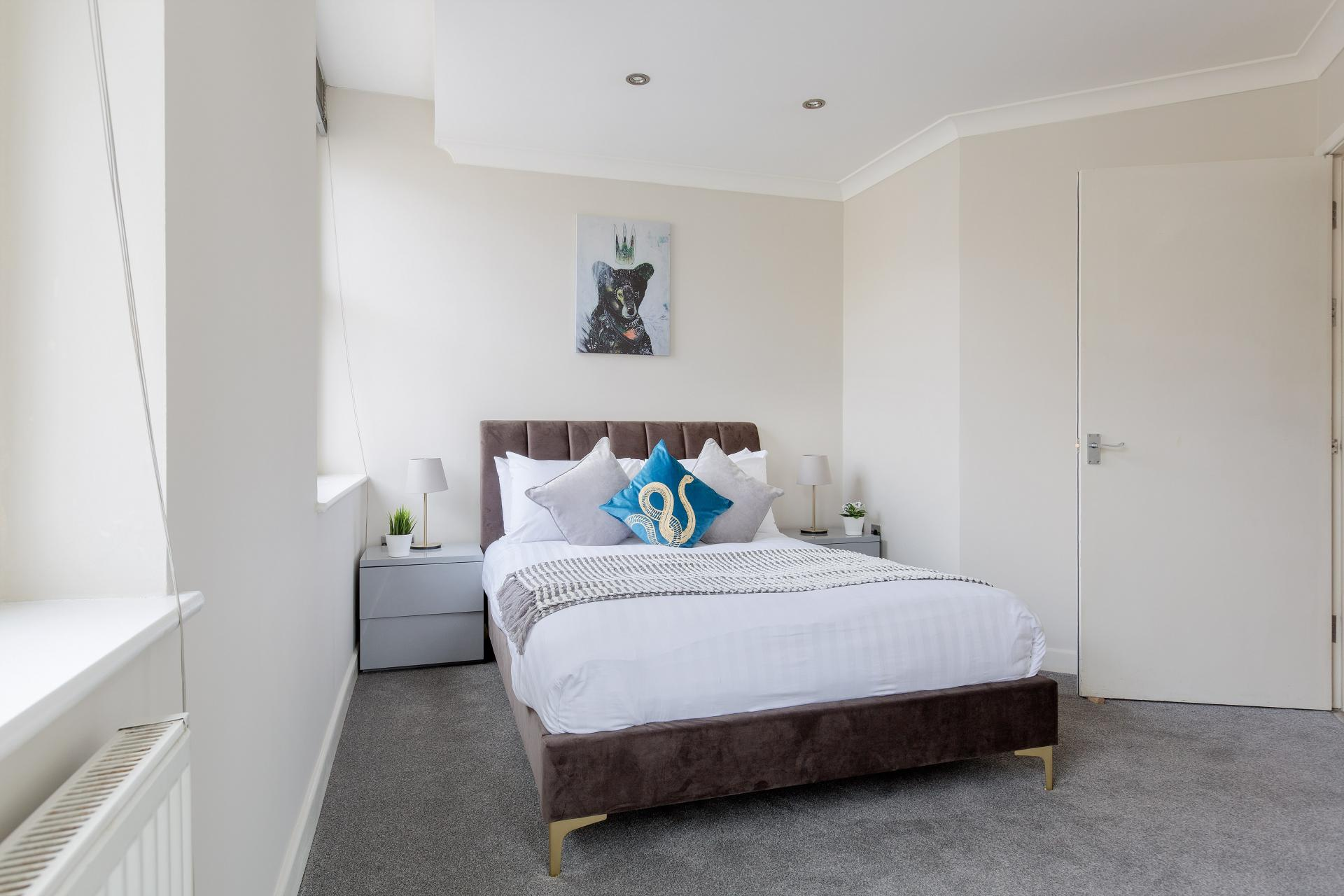 Spacious bedroom at Heart of Shoreditch Apartments, Whitechapel, London