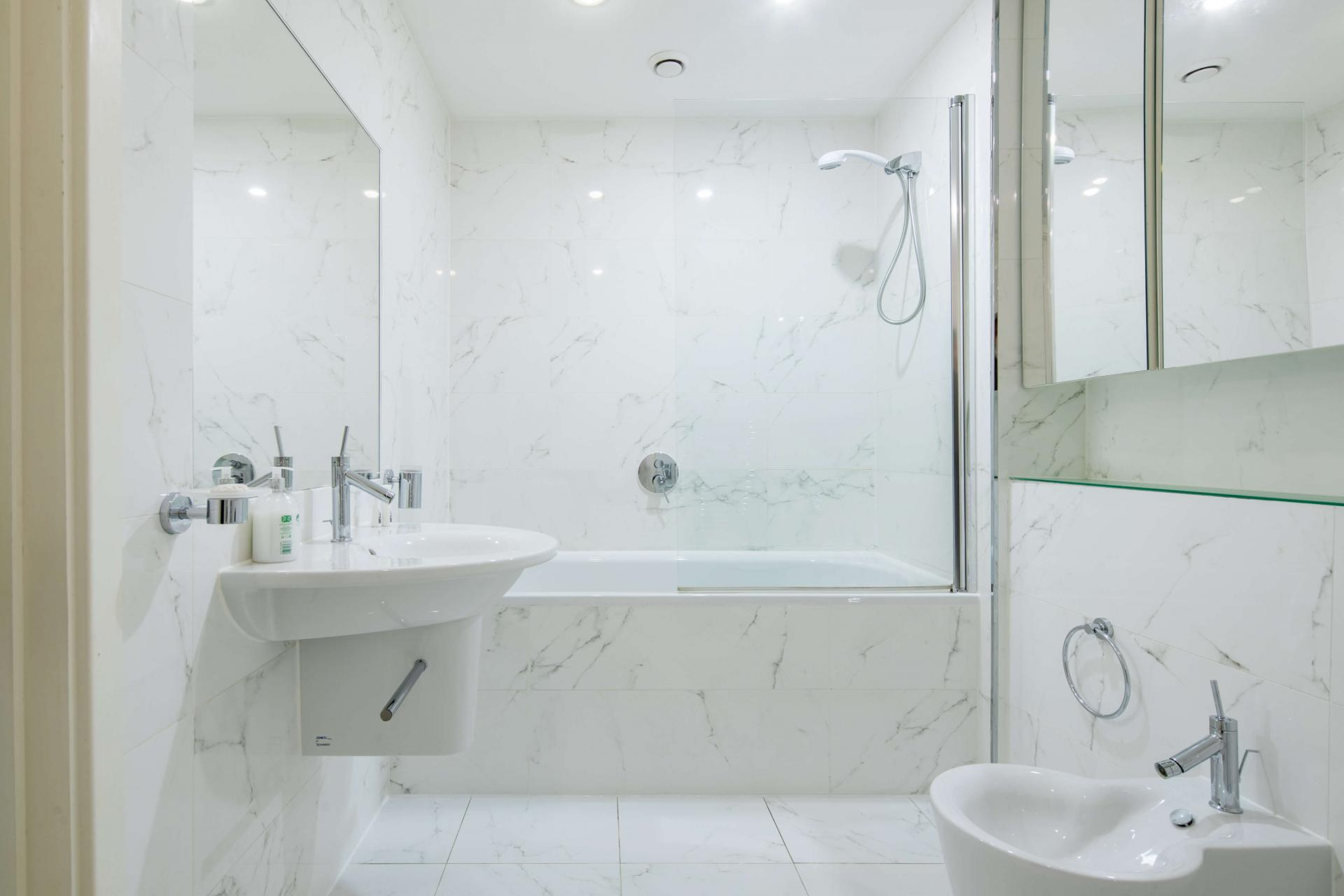 Bath at Meritas Court Apartments, Bayswater, London