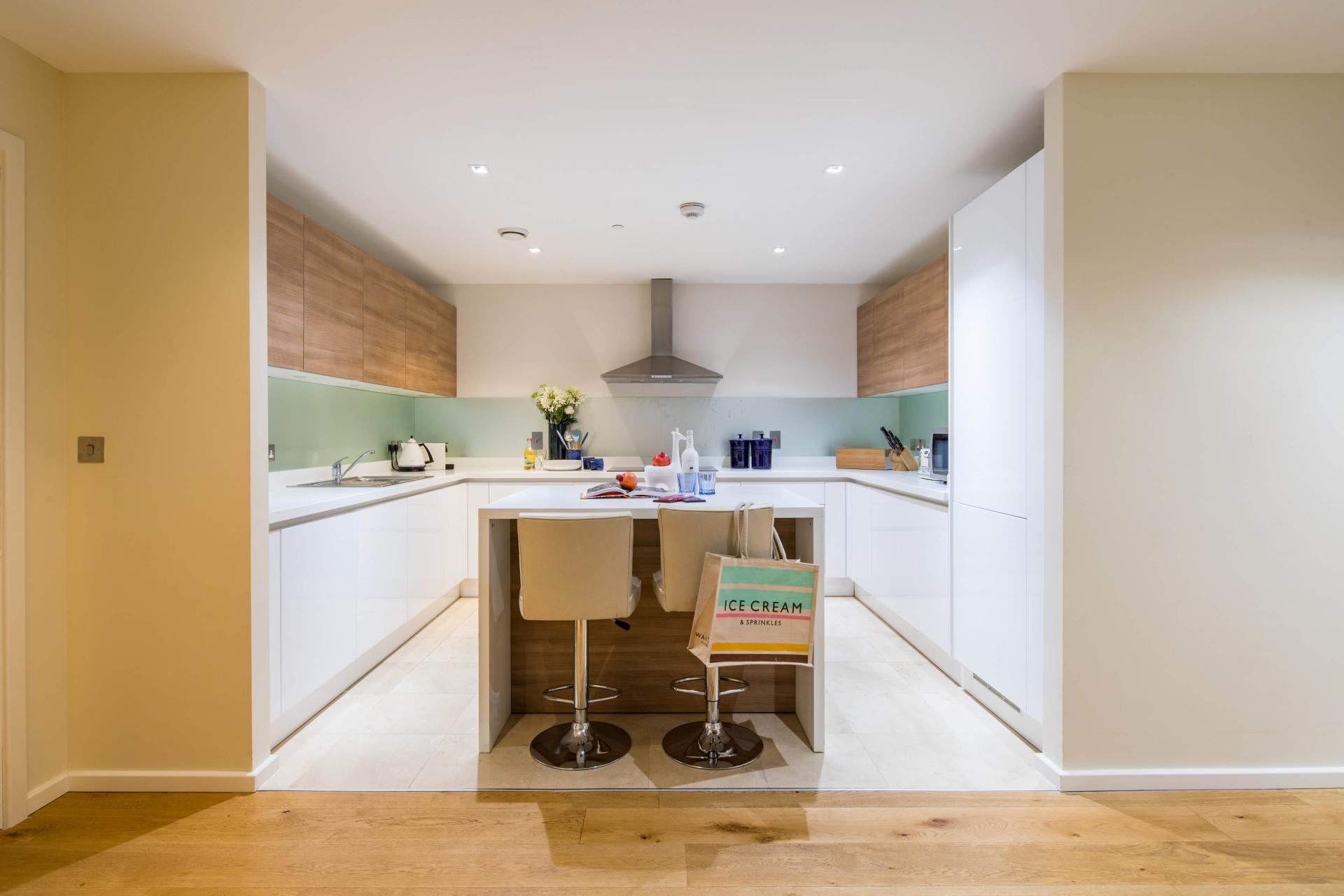 Kitchen at Meritas Court Apartments, Bayswater, London