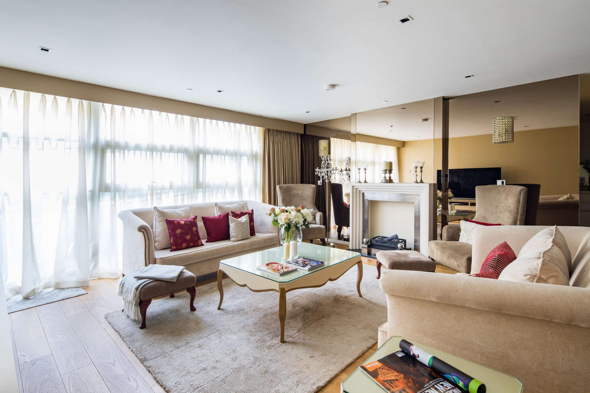 Living area at Meritas Court Apartments, Bayswater, London
